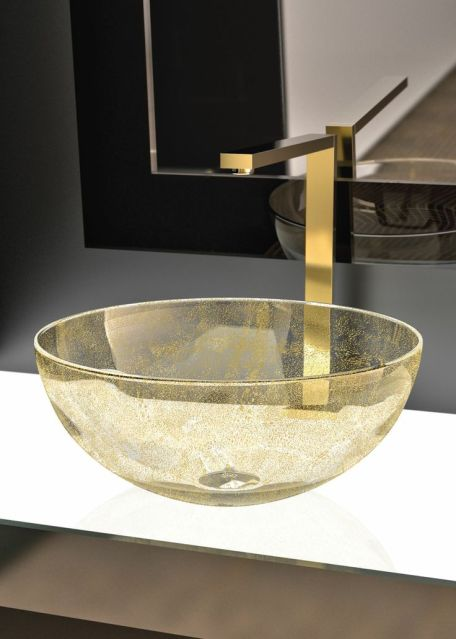 Laguna Oro Murano Glass Basin