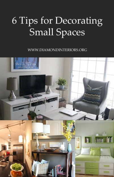 6 Tips for Decorating Small Spaces by Diamond Interiors