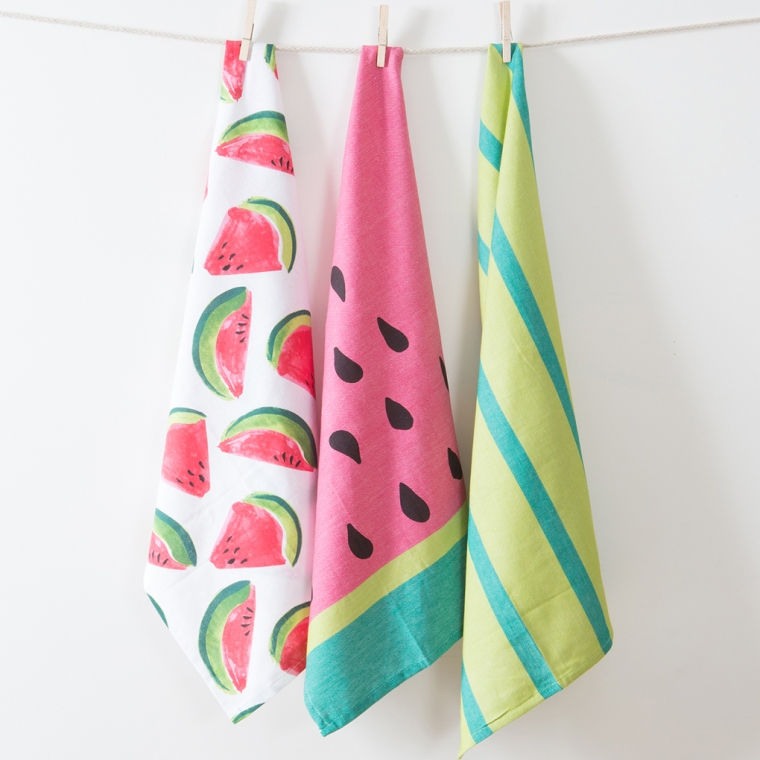 Melon Fruit Punch Tea Towel 3 Pack