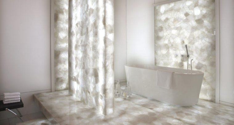 8141 White Quartz - quartz bathroom countertops - Caesarstone